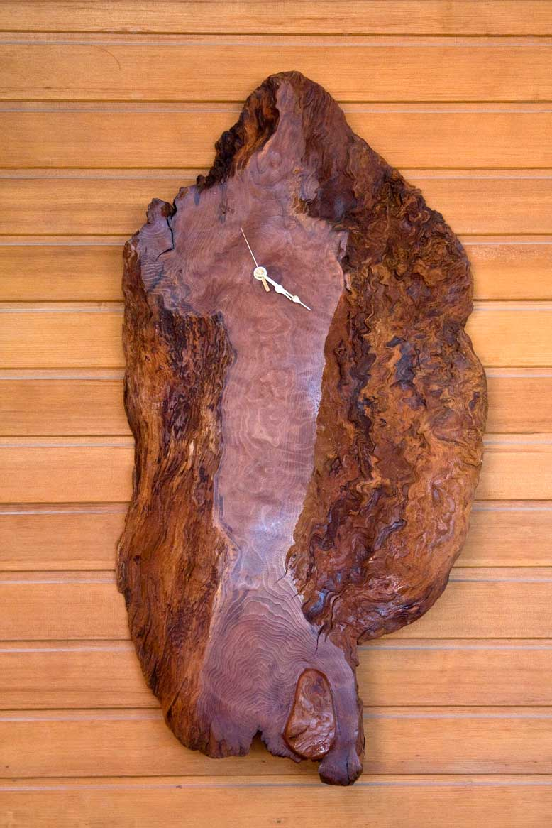 California Redwood Wall Clock