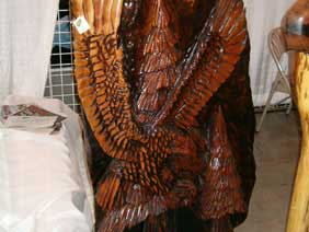 Black Walnut Furniture - Eagle Carving Sculpture