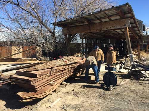 Banding-the-slabs at the Idaho sawmill