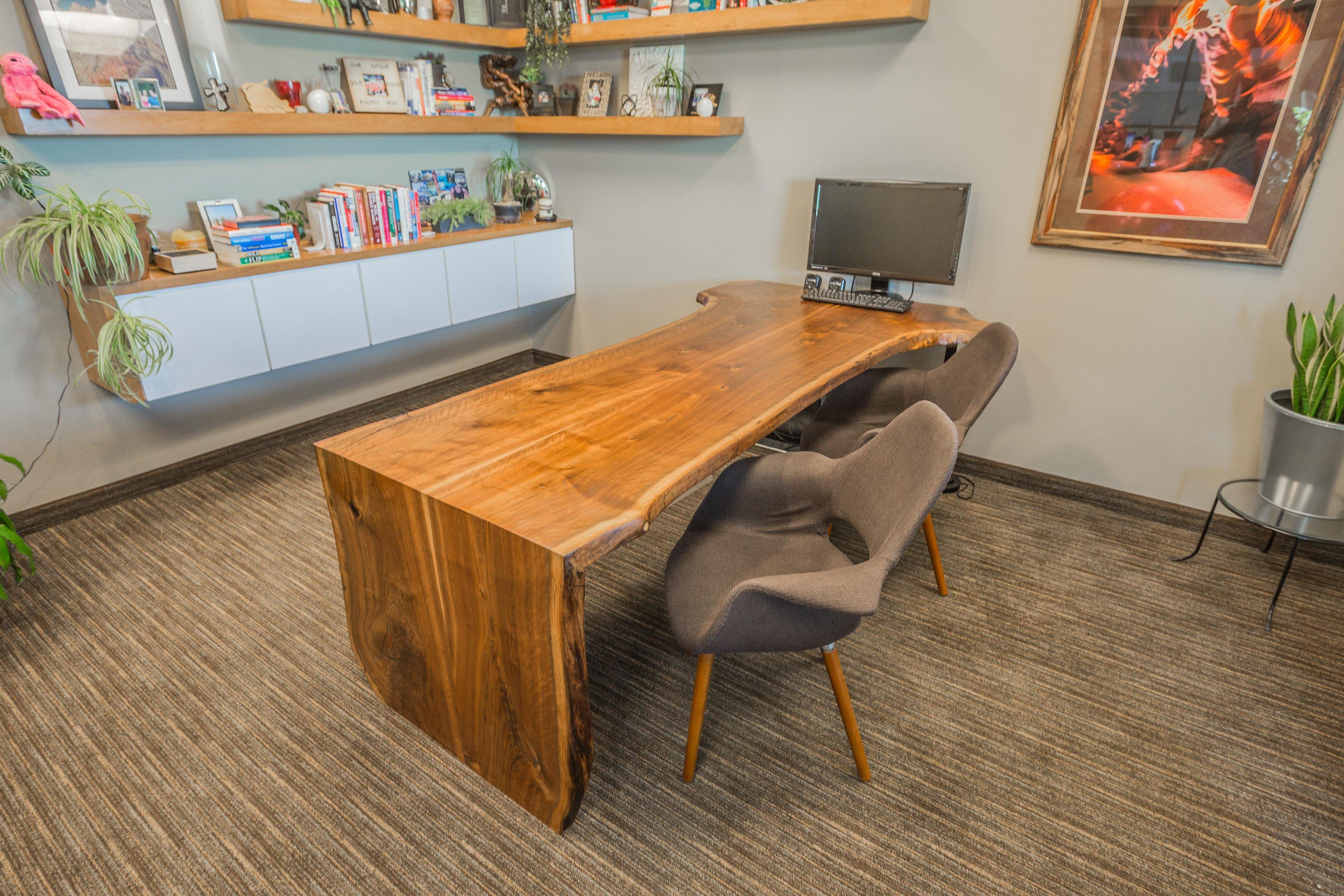 custom office desk. Black Walnut Waterfall Desk Custom Office